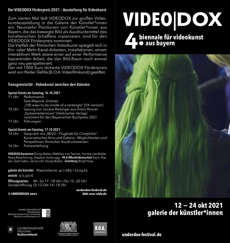 VIDEODOX Förderpreis 2021